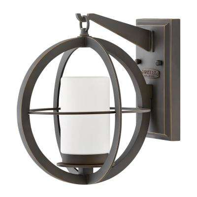 Compass Small 1-Light Oil Rubbed Bronze Outdoor Wall Lantern