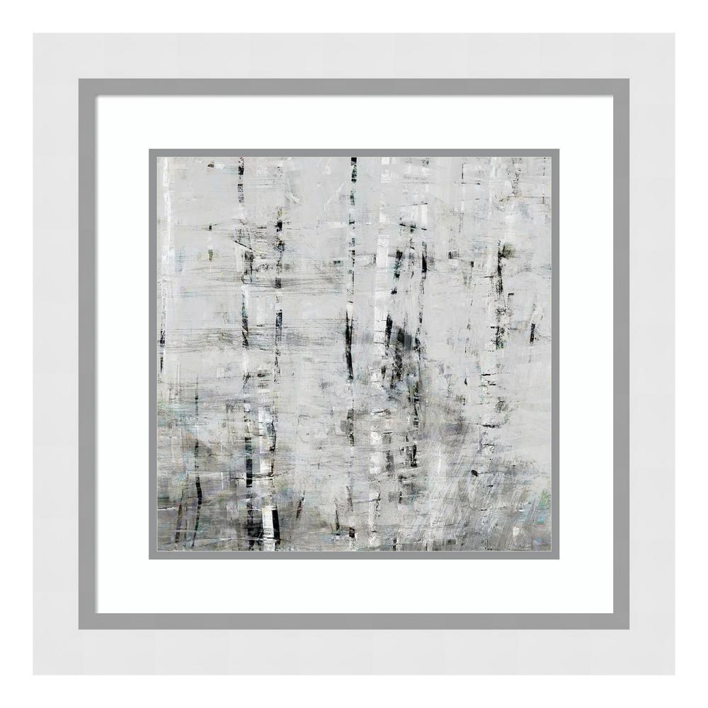 """""""Birch Perspective Grey III"""" by John Bingham Framed Wall Art"""