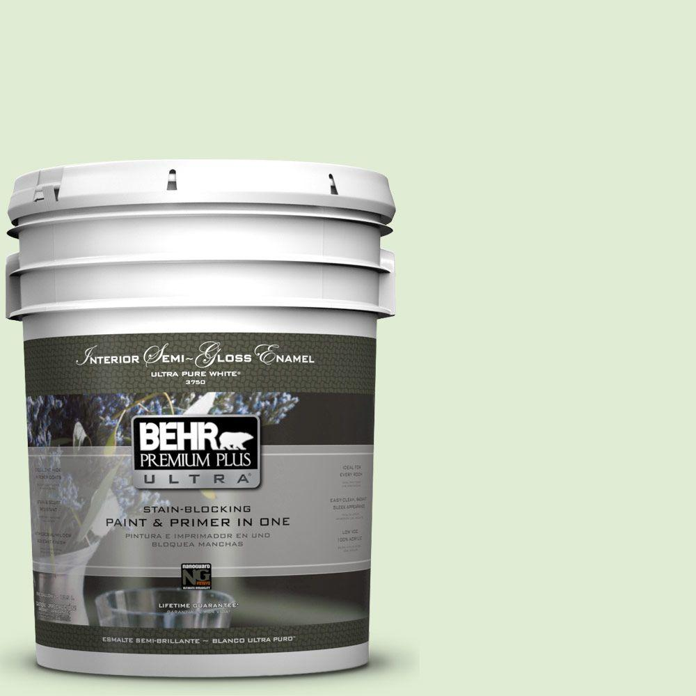 5-gal. #P380-2 Misted Fern Semi-Gloss Enamel Interior Paint