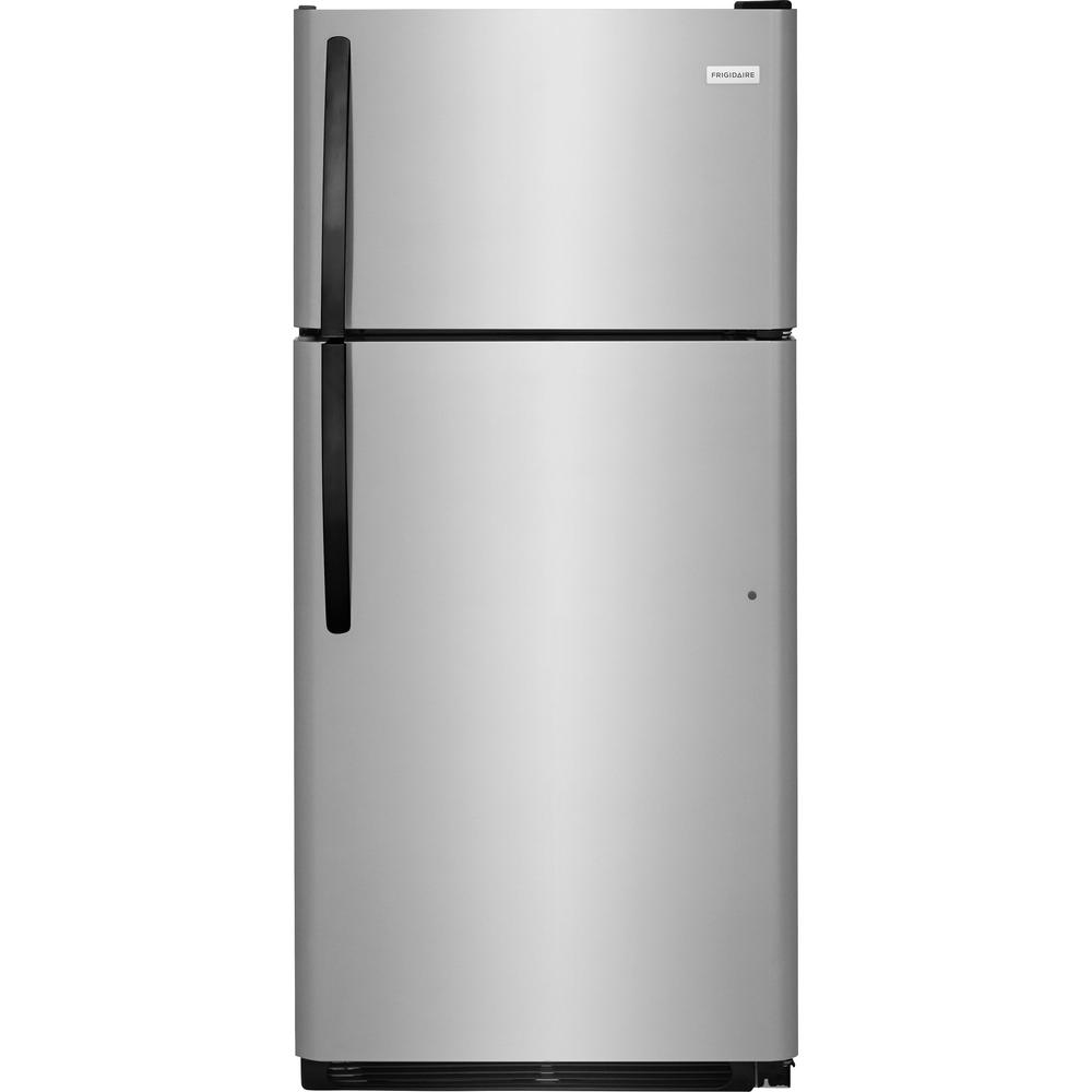Frigidaire 18 cu. ft. Top Freezer Refrigerator in Stainless Steel ...