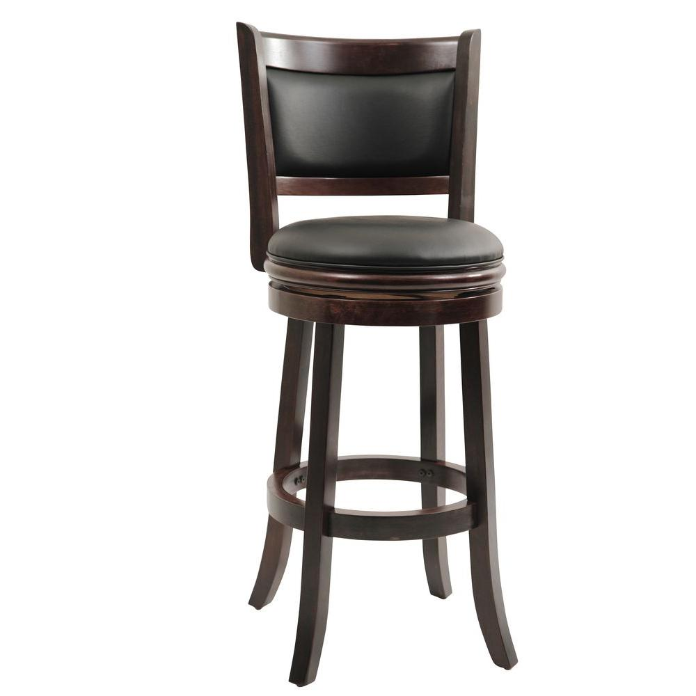 Swivel Counter Stool Bar Stool High Chair Black Kitchen: Boraam Augusta 29 In. Cappuccino Swivel Cushioned Bar