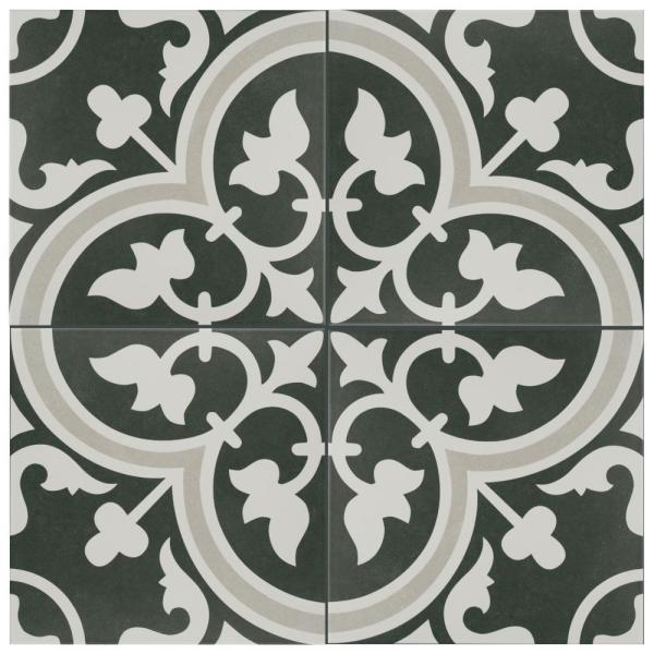 Arte Due Encaustic 9-3/4 in. x 9-3/4 in. Porcelain Floor and Wall Tile (11.11 sq. ft. / case)