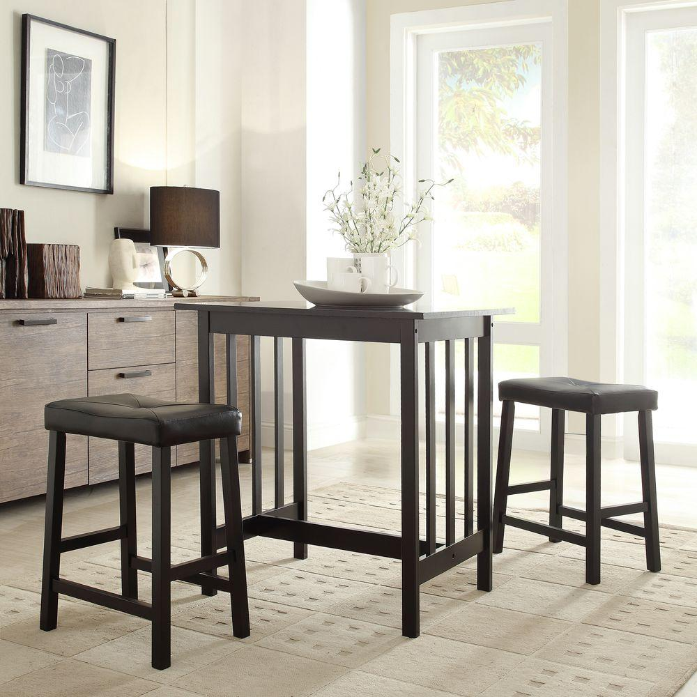 Hubbard Lane 3 Piece Black Bar Table Set