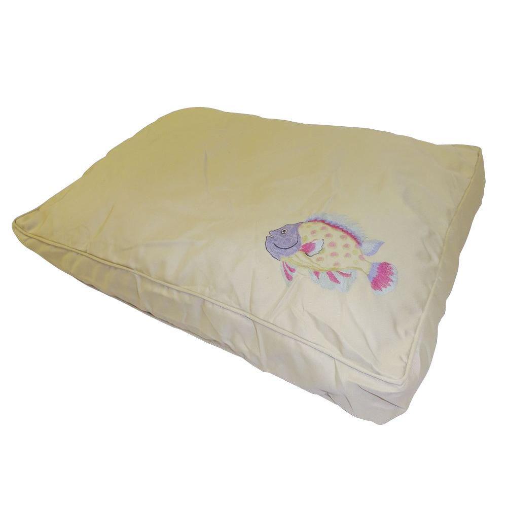 Medium to Large O'Fish Pink/Green Pet Bed