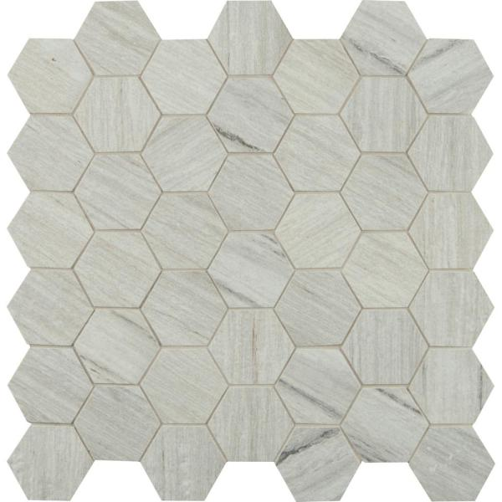 Metro Sand Hexagon 12 in. x 12 in. x 10mm Matte Porcelain Mesh-Mounted Mosaic Tile (12 sq. ft. / case)