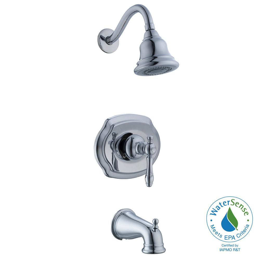 Glacier Bay Lyndhurst 1-Handle 3-Spray Tub and Shower Faucet in ...