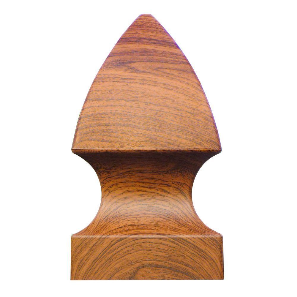 5 in. x 5 in. Vinyl Rosewood Gothic Post Cap