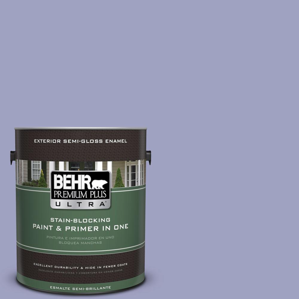 BEHR Premium Plus Ultra 1-gal. #630D-4 Ruffled Iris Semi-Gloss Enamel Exterior Paint