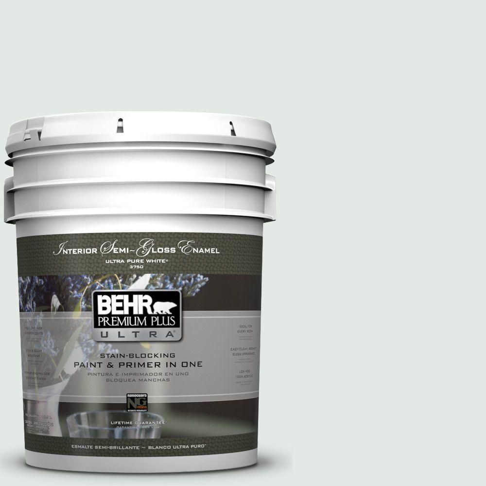 5-gal. #BL-W7 Wind Chill Semi-Gloss Enamel Interior Paint