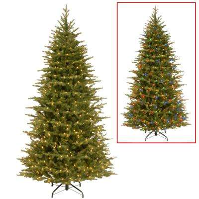 7.5 ft. Nordic Spruce Slim Artificial Christmas Tree with Dual Color LED Lights