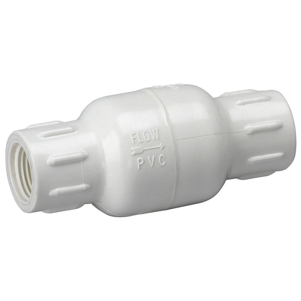 1-1/4 in. PVC Sch. 40 FPT x FPT IPS In-Line Check