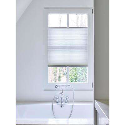 Cut-to-Width White Light Filtering Fabric Cordless 3/4 in. Cellular Shade - 22.5 in. W x 72 in. L