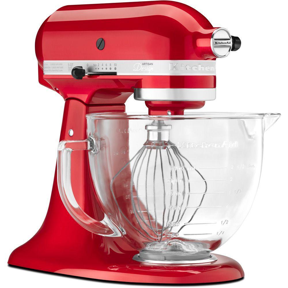 KitchenAid Artisan Designer 5 Qt. 10-Speed Candy Apple Red Stand Mixer