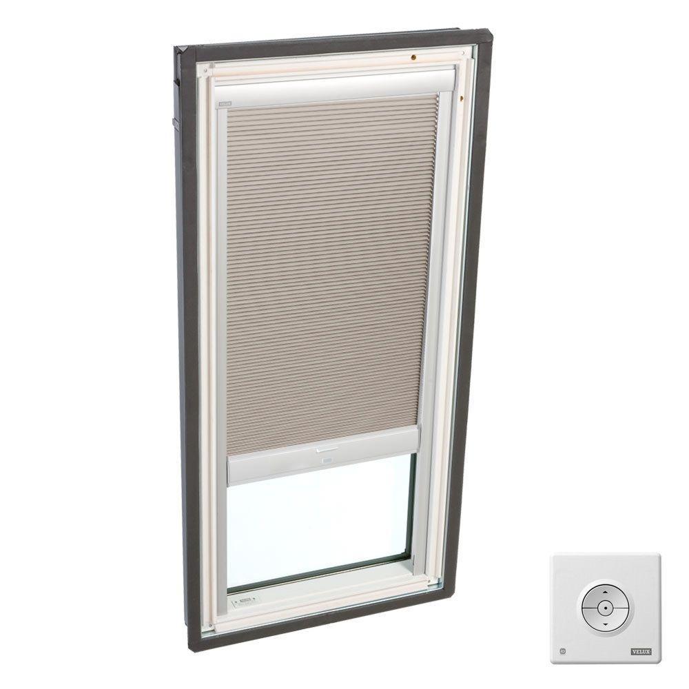 VELUX Solar Powered Room Darkening Beige Skylight Blinds for FS M08 Models