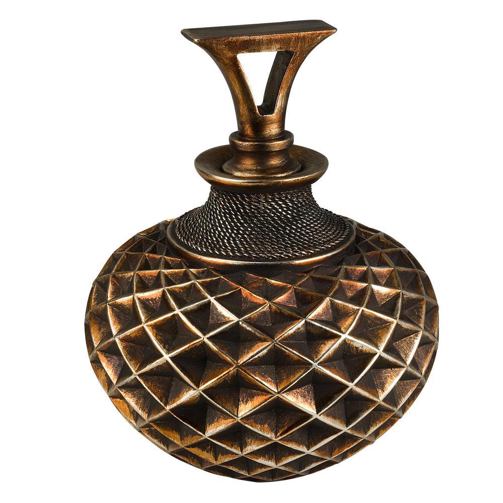 Western Brown Polyresin Decorative Vase