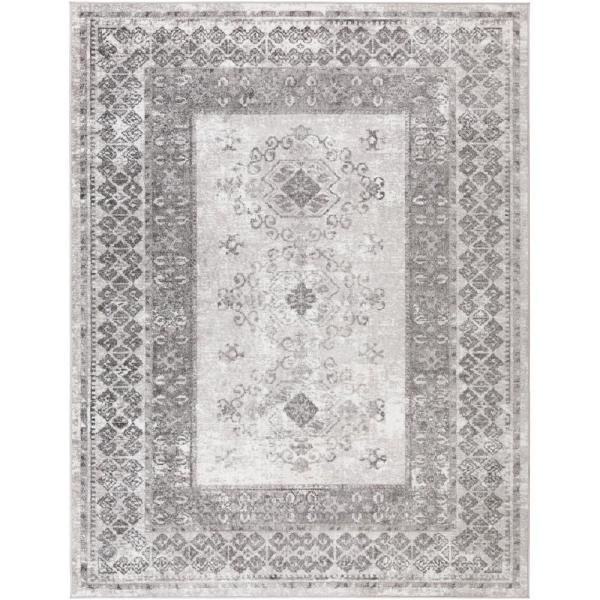 Artistic Weavers Delon Charcoal 6 Ft 7 In X 9 Ft Area Rug S00161017671 The Home Depot