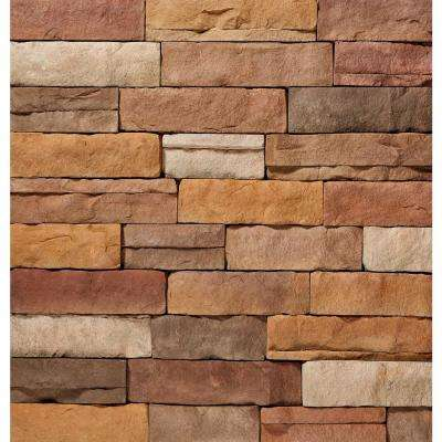 12 in. x 4 in. Manufactured Stone Ledgestone Sand Flat Siding (5 sq. ft. Pack)