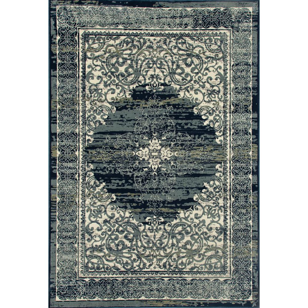 Art Carpet London Homeland Steel Blue 5 Ft. X 8 Ft. Area