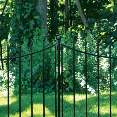 Beaumont 53.3 in. x 3 in. x 3 in. Black Steel Fence Post and Stake