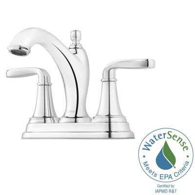 Northcott 4 in. Centerset 2-Handle Bathroom Faucet in Polished Chrome