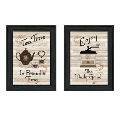 """Enjoy Tea Time"" by Millwork Engineering Framed Wall Art"