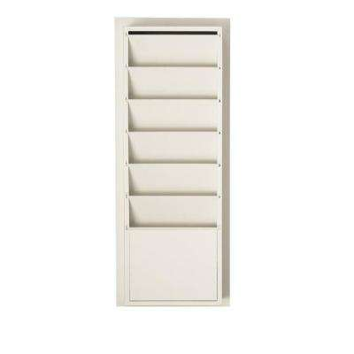 Craft Space 33 in. H x 13 in. W 6-Slot Magazine/File Storage in Picket Fence