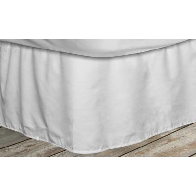 Frita 15 in. White Striped Full Bed Skirt