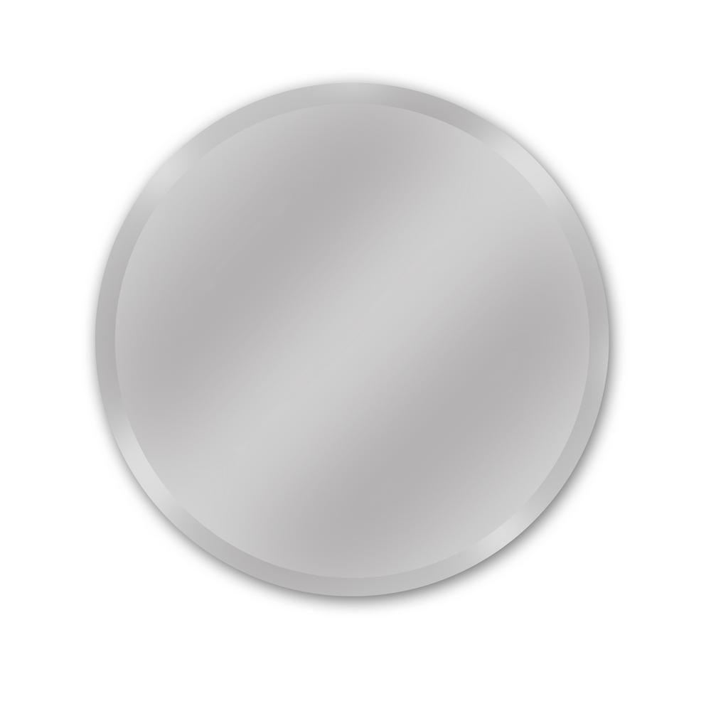 Westport 28'' Round Frameless Beveled Mirror