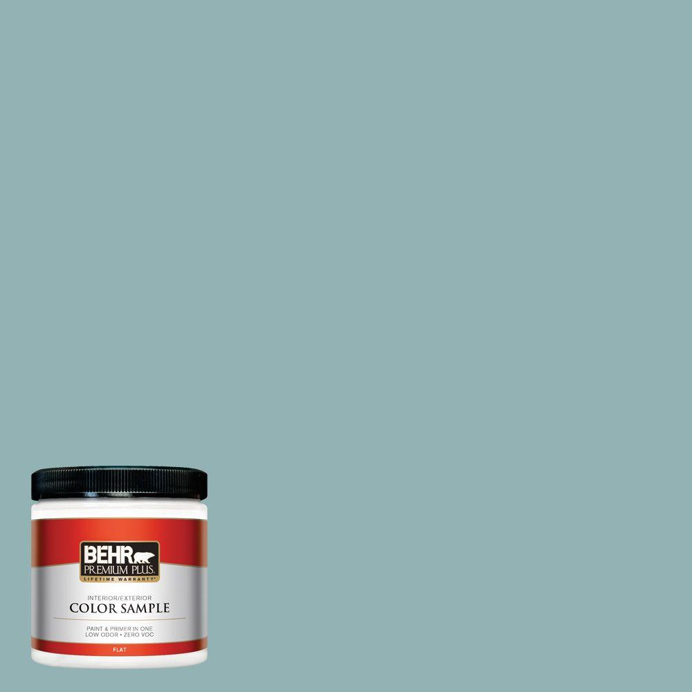 8 oz. #500F-5 Gulf Winds Interior/Exterior Paint Sample