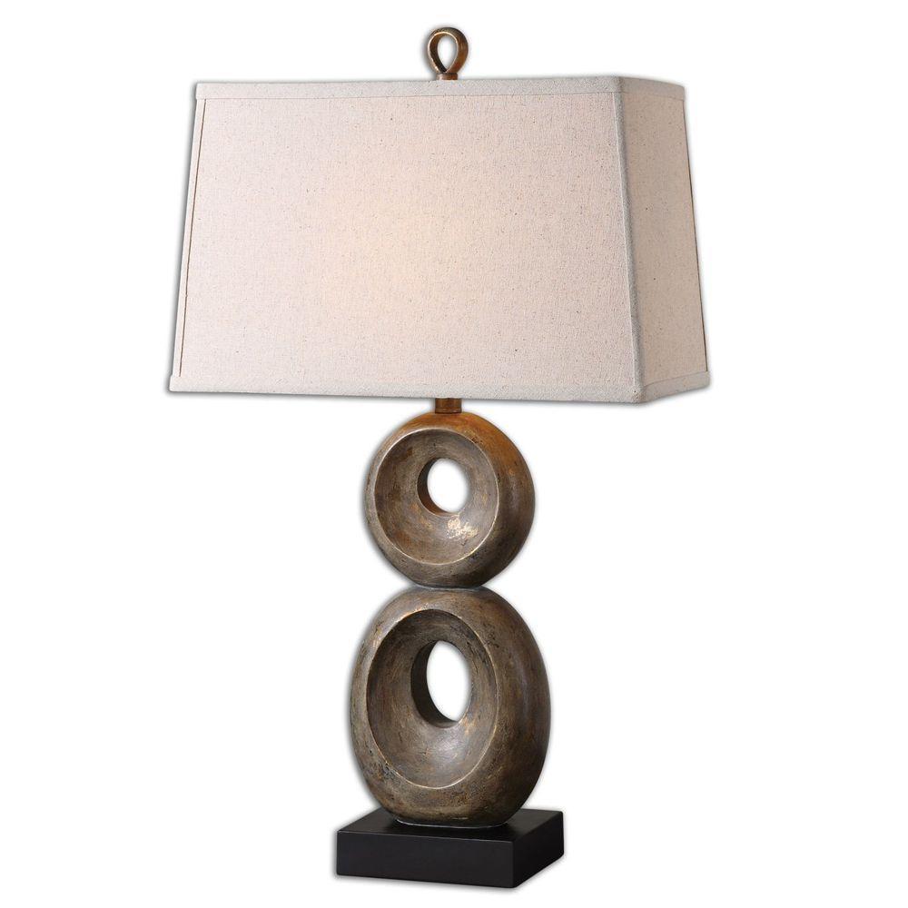 32 in. Dusty Gray Table Lamp