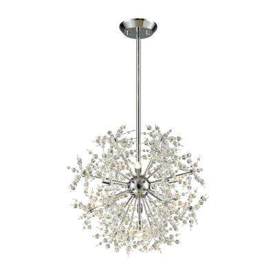 Snowburst 7-Light Polished Chrome Chandelier