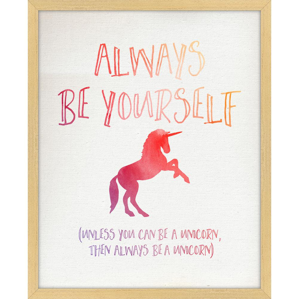 "22 in. x 18 in. ""Always Be Yourself"" Framed Giclee Print"