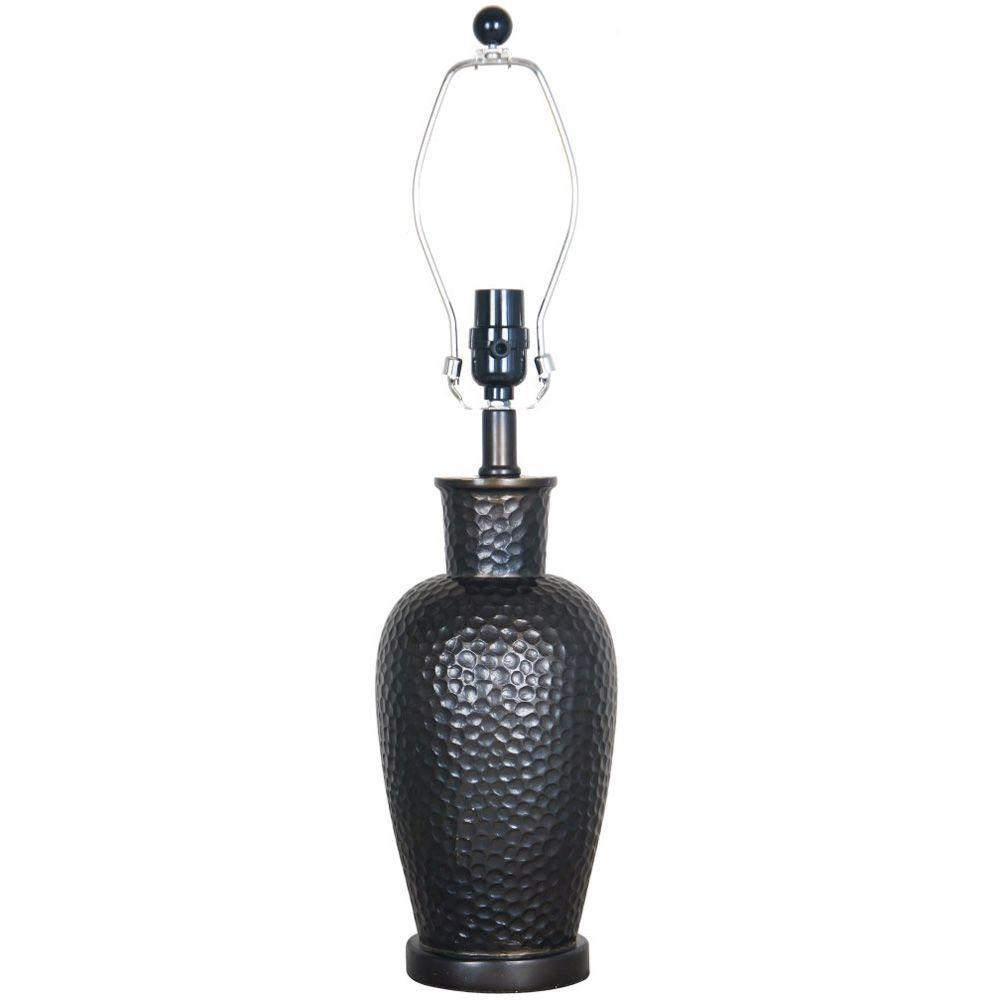 Mix & Match 23.5 in. Restoration Bronze Hammered Table Lamp Title
