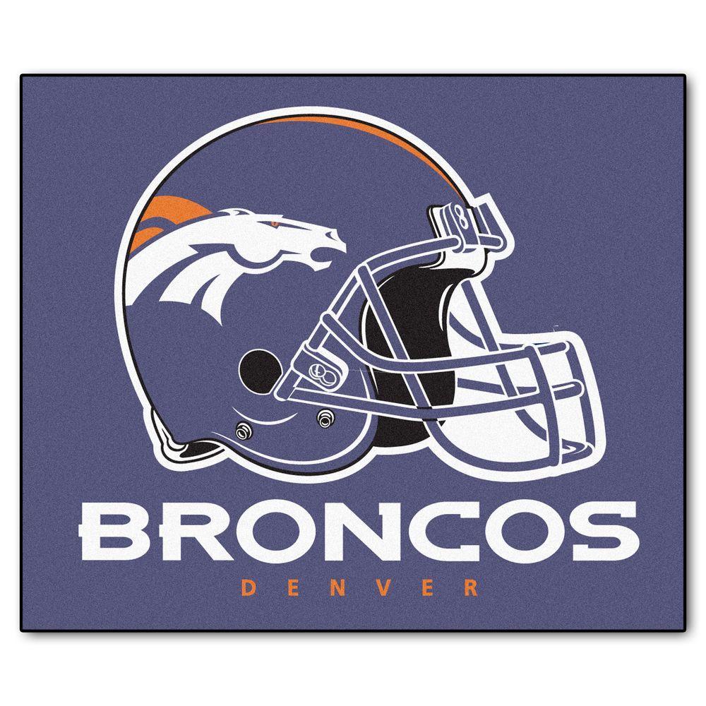 Denver Broncos 5 ft. x 6 ft. Tailgater Rug
