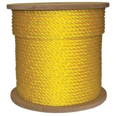 3/8 in. x 600 ft. Twisted Poly Rope Yellow
