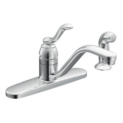 Banbury Single-Handle Standard Kitchen Faucet with Side Sprayer in Chrome