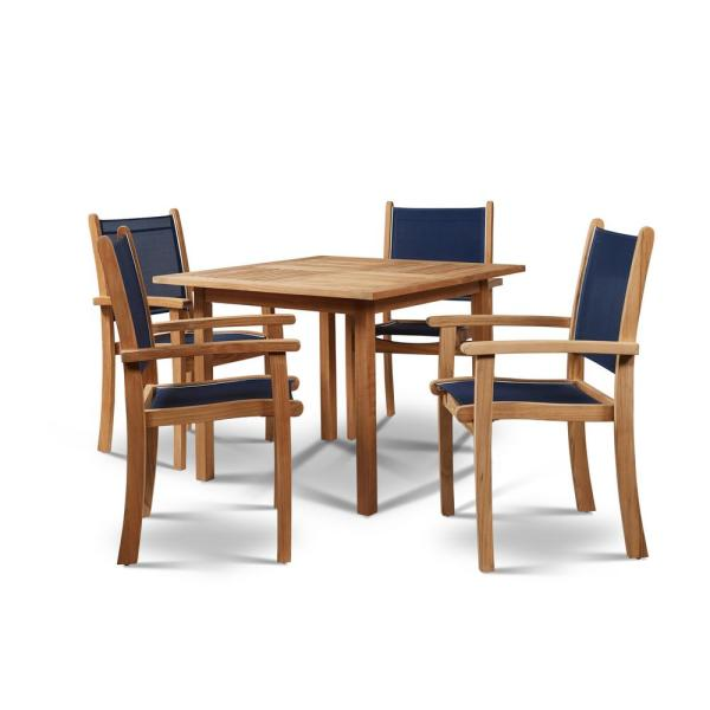 Hiteak Furniture Birmingham Square Teak Outdoor Dining Table Hlt2246 The Home Depot