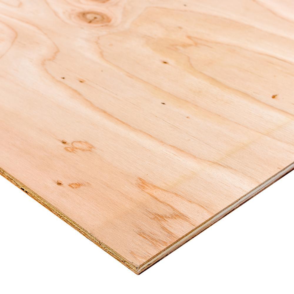 Dimensions BC Sanded Plywood (Common: 15/32 in. x 2 ft. x 2 ft.; Actual: 0.469 in. x 23.75 in. x 23.75 in.)