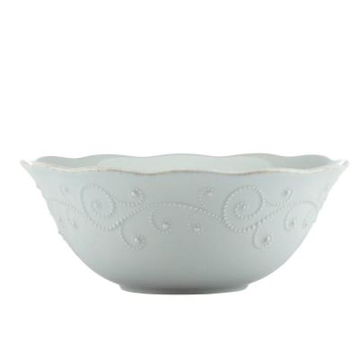 French Perle Ice Blue Serve Bowl
