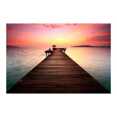 "47 in. x 32 in. ""Wanderlust"" Tempered Glass Wall Art"
