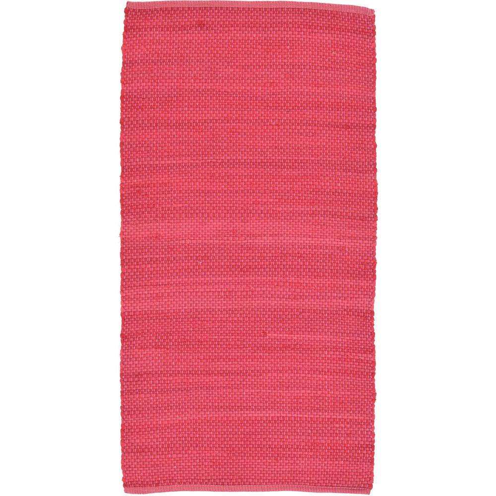 Unique Loom Kilim Dhurrie Pink 2 Ft 7 In X 5 Ft Area