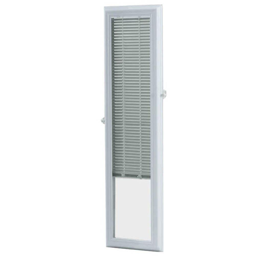ODL White Cordless Add On Enclosed Aluminum Blinds With 1/2 In. Slats For 7  In. Wide X 64 In. Length Side Light Door Windows BWM76401   The Home Depot