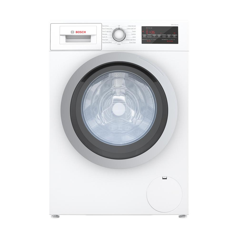 500 Series?24 in. 2.2 cu. ft. White with Silver Accents High-Efficiency