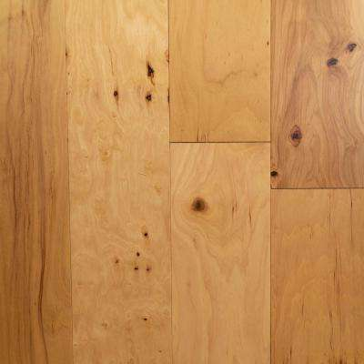Hickory Natural 3/8 in. T x 5 3/8 in. W X Random Length Click Lock Engineered Hardwood Flooring (22 sq. ft. / case)