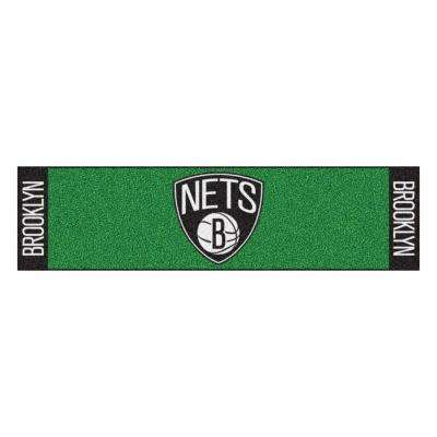NBA Brooklyn Nets 1 ft. 6 in. x 6 ft. Indoor 1-Hole Golf Practice Putting Green