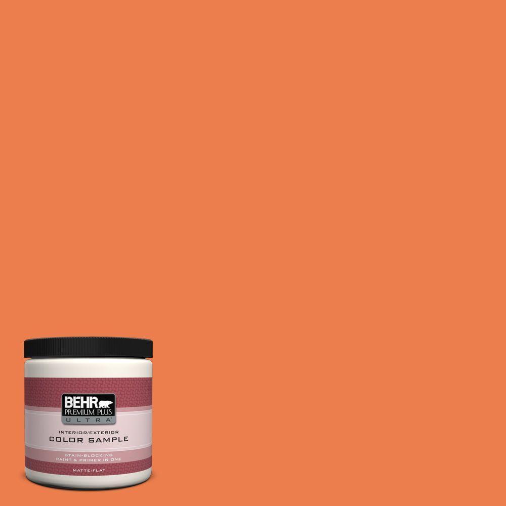 BEHR Premium Plus Ultra 8 oz. #P200-6 Sizzling Sunset Interior/Exterior Paint Sample