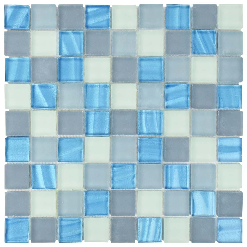 Merola Tile Atlantis Abalone 11-3/4 in. x 11-3/4 in. x 8 mm Glass Mosaic Tile