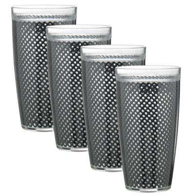 Fishnet 24 oz. Black Insulated Drinkware (Set of 4)
