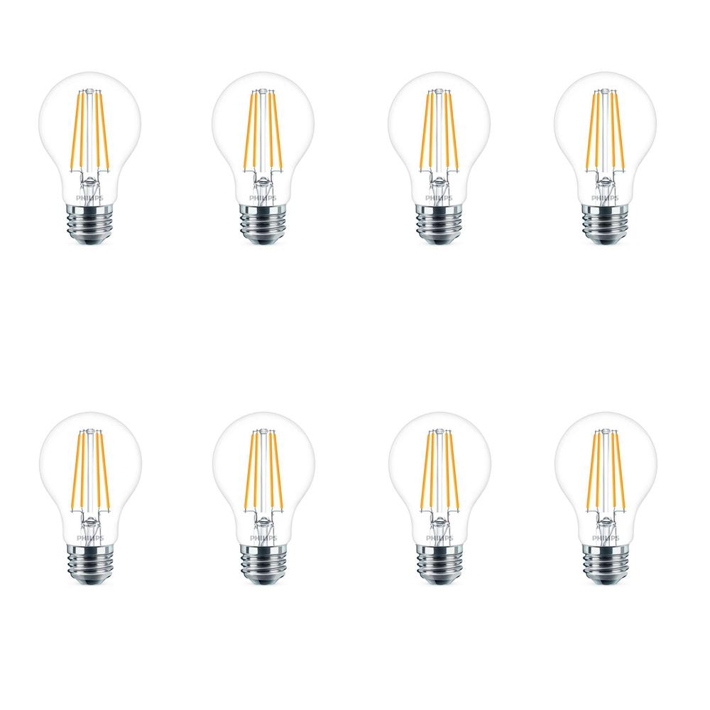 Philips 40-Watt Equivalent A19 LED Light Bulb Daylight (8-Pack)