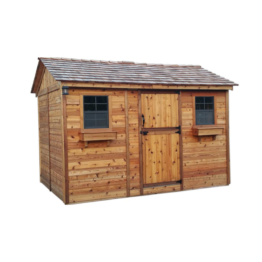 Outdoor living today cabana 8 ft x 12 ft western red for Outdoor garden shed